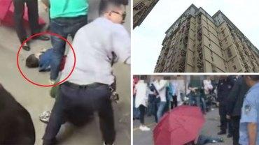 7-letni chłopczyk wyskoczył z wysokości 10 piętra trzymając w ręku parasol! Myślał, że dzięki niemu spokojnie opadnie na ziemię, tak jak postać z kreskówki