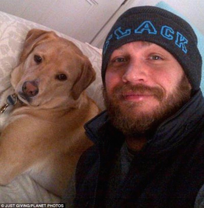 Tom Hardy posted a post after the death of his beloved dog Woody. What he wrote broke his heart 4