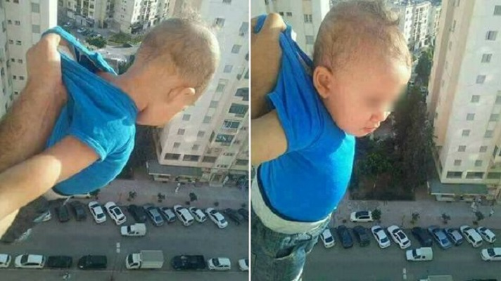 He threatened on Facebook that if he did not get 1000 likes, he would drop his son from the balcony! The child was on the 15th floor of a skyscraper 3