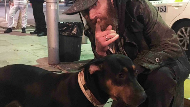 Although he lived on the street, he was happy until his dog, his faithful companion in misery, got sick. He could not afford the operation for the animal, but in his path appeared angels! 2