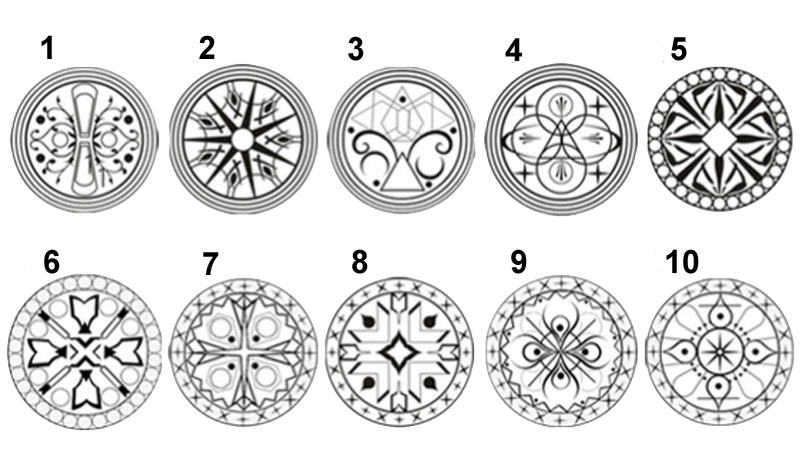 Look at these mandalas and choose the one that you like best. Your spontaneous choice will betray what constitutes your greatest strength 4