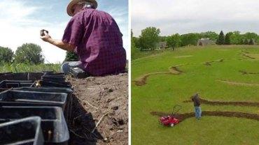 Gdy zaczął chaotycznie kopać swoje półhektarowe pole, wszyscy patrzyli na niego z politowaniem. Po pół roku prześmiewcom zrzedły miny