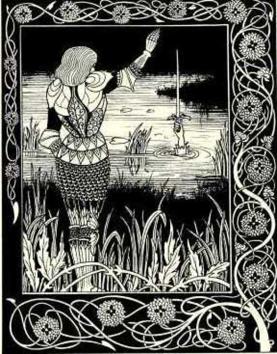 She was wading in the lake when she came across an old sword. Is it possible that she found the famous Excalibur? 3