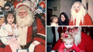 Nie taki Święty Mikołaj wesoły, jak go malują, o czym przekonały się te dzieci. Zapewne mają traumę do końca życia