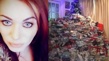Kupiła dzieciom 300 prezentów pod choinkę! Internauci zmieszali ją z błotem. Czy słusznie?