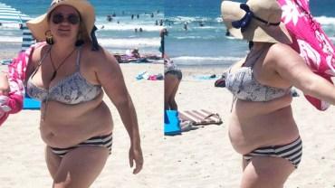 Grupa facetów szydziła z niej na plaży! Jej odpowiedź stała się hitem internetu