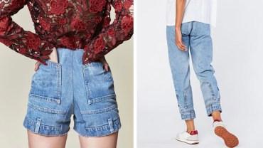 Odwrócone jeansy pokazują, że moda staje na głowie. Projektant płakał, jak wymyślał