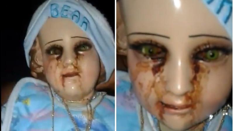 Posąg dzieciątka Jezus płacze krwawymi łzami. Miejscowi są przekonani, że to wiadomość od Boga