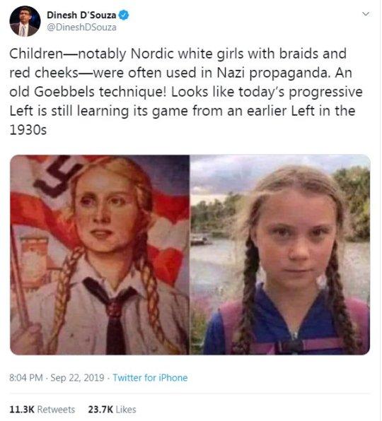Greta Thunberg jak dziewczynka z nazistowskiego plakatu. To porównanie elektryzuje internautów