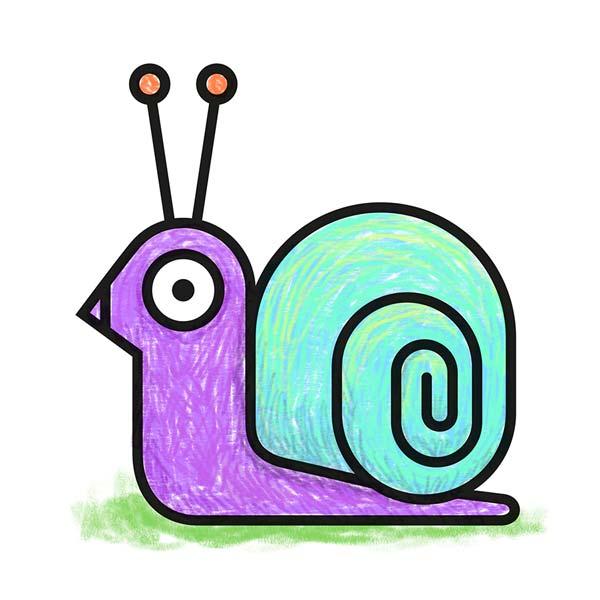 Dessin d'un escargot