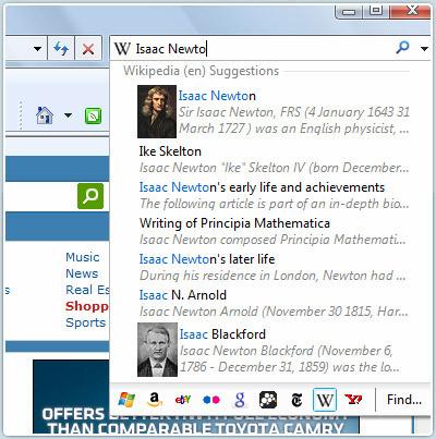 Screenshot Recherche intelligente