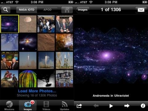Les images de la NASA - Application iPhone