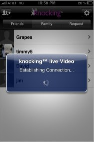 Knocking Live establishing connection