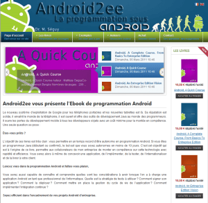 Android2ee : ebooks pour la programmation Android