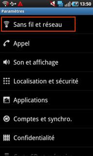 Désactiver l'échange de data mobile et internet à l'étranger sur Android 3