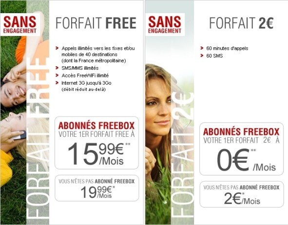 Offres Free Mobiles