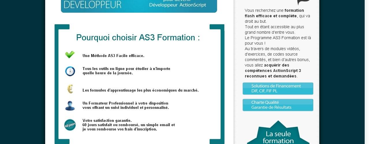 Devenez développeur Flash professionnel avec la formation actionscript AS3 Facile ! 1