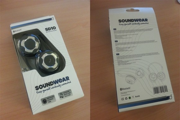 boite soundwear sd10 580x387 - Test du casque bluetooth stéréo SoundWear SD10