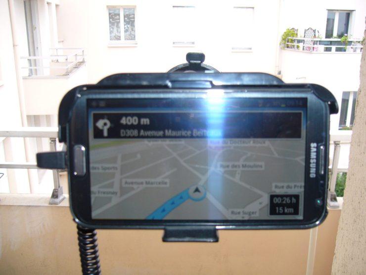 Test du Support voiture avec chargeur pour Samsung Galaxy Note 2 23