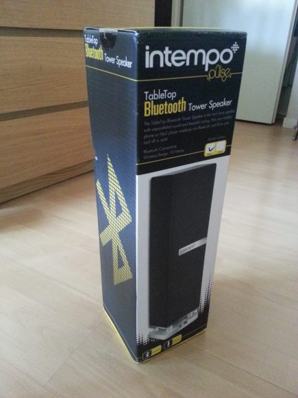 Test de l'enceinte bluetooth Intempo TableTop iTower