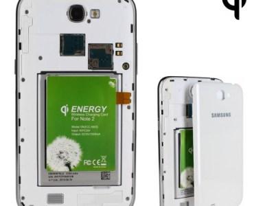 Test de l'adaptateur de charge sans fil pour Samsung Galaxy Note 2 Qi 2