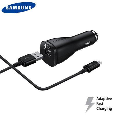 chargeur de voiture charge rapide Samsung officiel noir