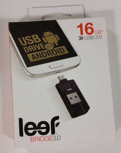 Boite de la clé micro USB Leef Bridge 3.0 16 Go noire