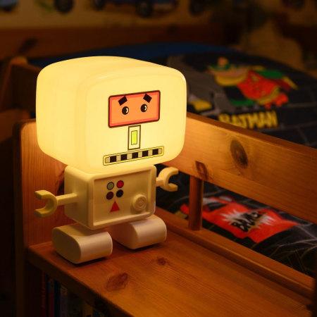 Test de la lampe veilleuse AGL RoboGlow rechargeable avec détecteur de son et de lumière 1
