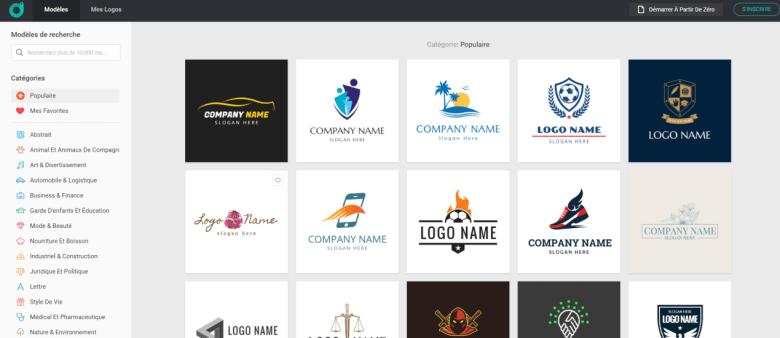DesignEvo : créez rapidement de superbes logos en ligne 1