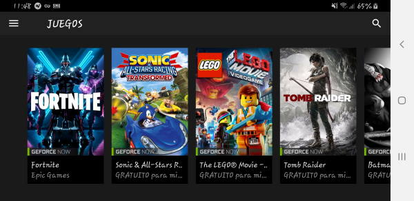 Nvidia Gaming para Android