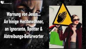 Ernste Warnung von Jesus