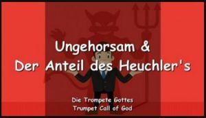 Ungehorsam & Der Anteil des Heuchler's