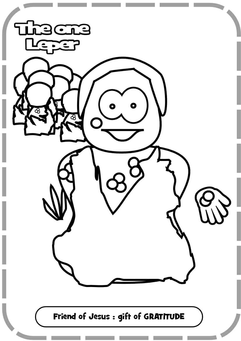 Free heals leper coloring pages