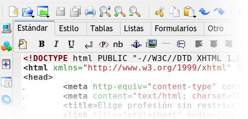 Maquetación HTML con Quanta
