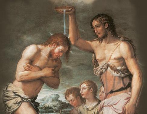 El bautismo del Señor.