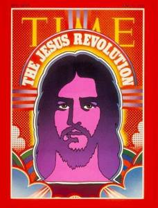 Time Magazine cover that cover the Jesus Revolution and Jesus Music. Featires a hippie-looking portrait of Jesus.