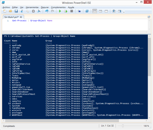 get-process-group-object-name-windows-powershell