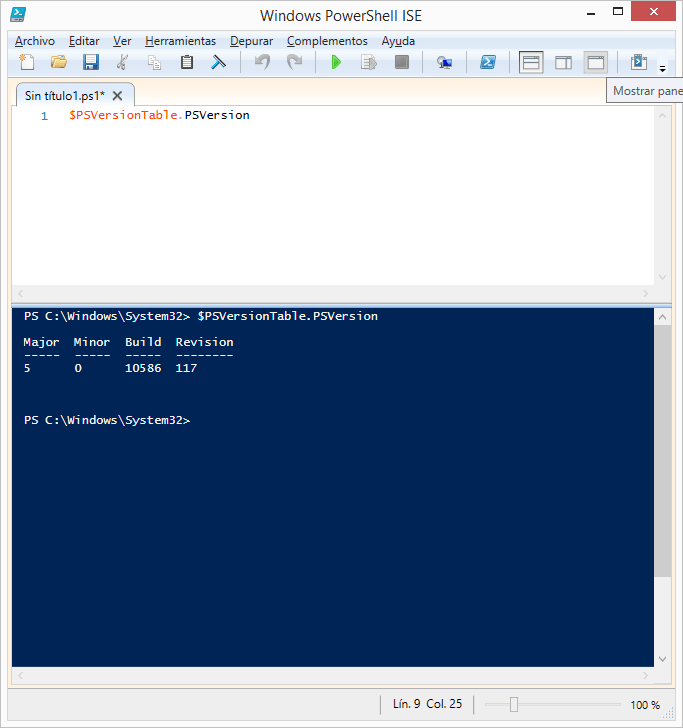 version-powershell-windows