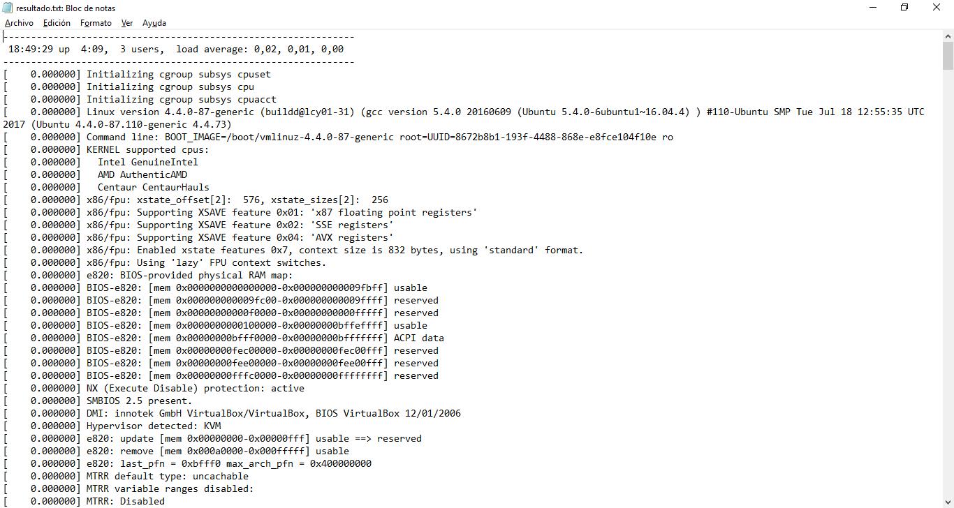 Analizar el rendimiento de Linux realizando una conexión