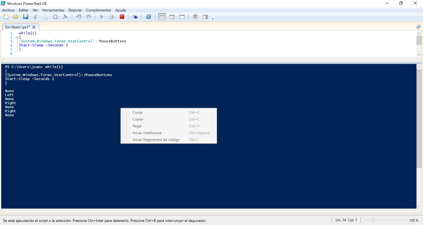Capture mouse click in PowerShell | Scripting and security