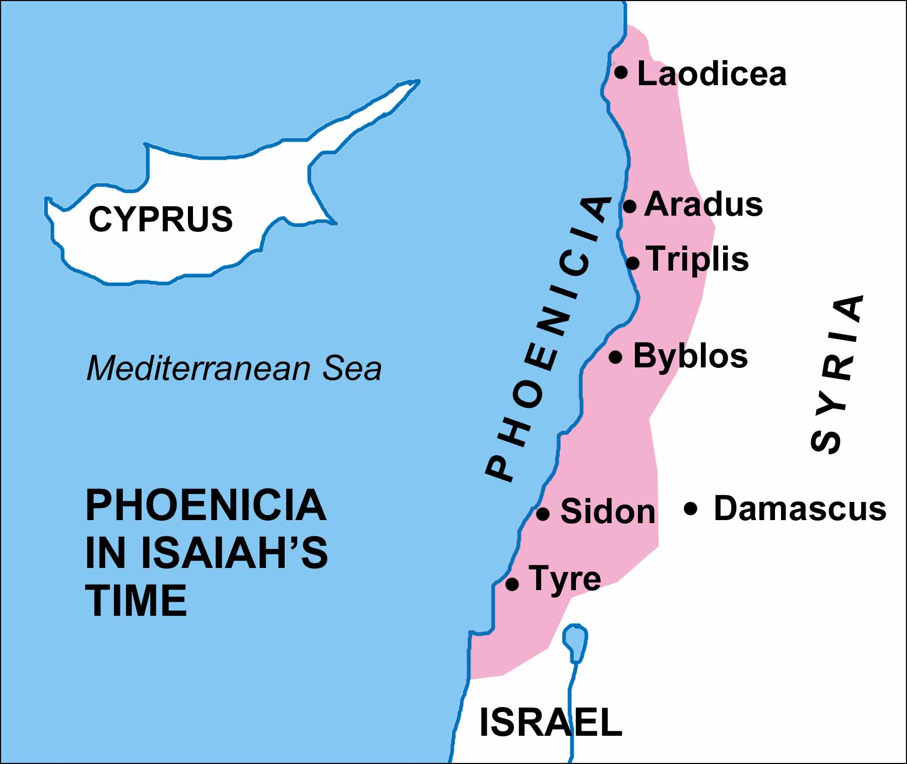 Image result for Where was Sidon in Isaiah's time?