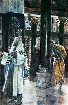 James J. Tissot, The Pharisee and the Publican (1886-96), watercolor.