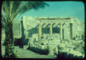 Ancient synagogue at Capernaum on the Sea of Galilee, Israel