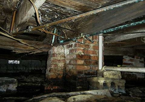 Crawl space water destroys the structural integrity of your home.