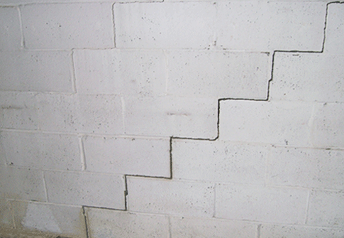 cracked block foundation