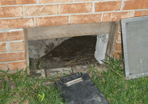 Crawl Space Door - An unprotected crawl space also creates the perfect home for pest and rodents .