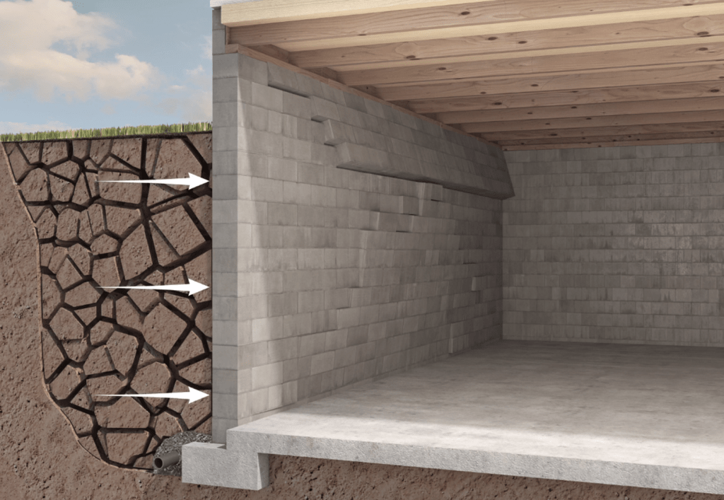 dry soil affects foundation walls