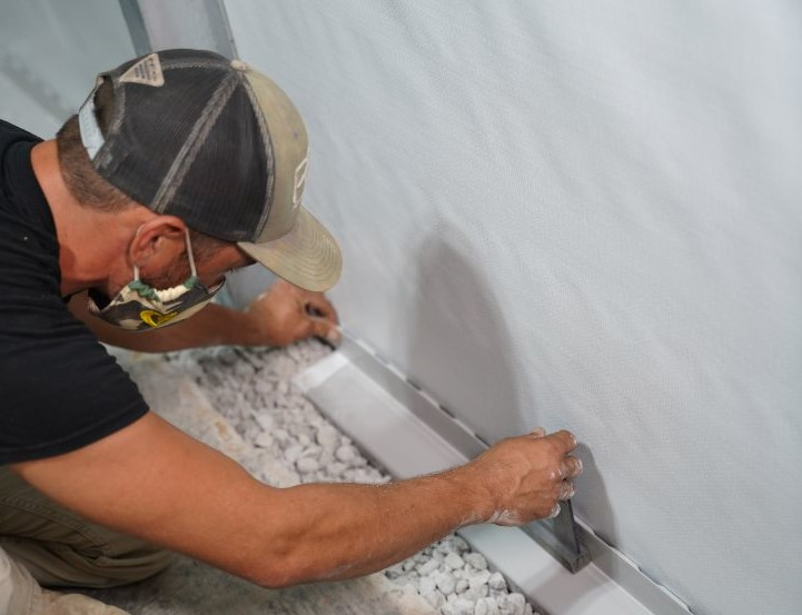 interior drainage installation