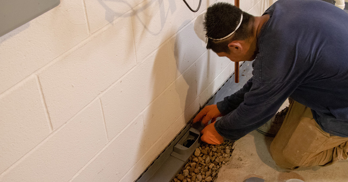 install and maintain basement drainage