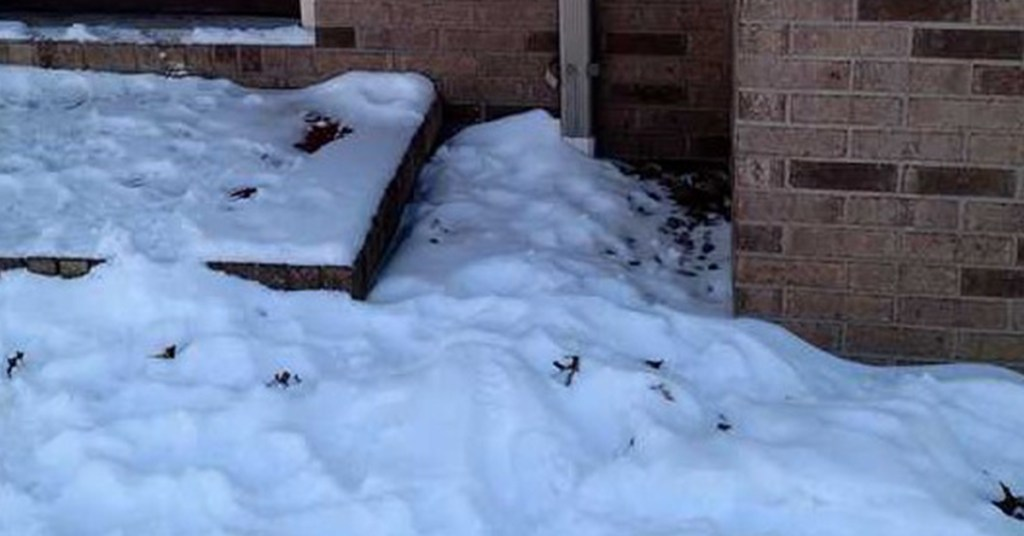 ice and snow near your foundationice and snow near your foundation